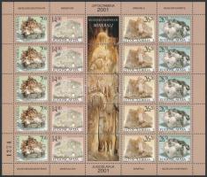 Minerals 5 sets in minisheet, Ásványok 5 sort tartalmazó kisív