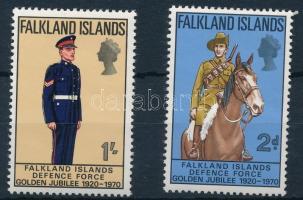 Army set closing stamps 50 éves a Honvédség sor záróértékei