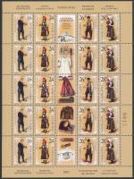 Serbian folk costumes minisheet, Szerb népviseletek kisív