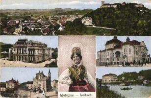 Ljubljana, Laibach; theatre, folklore