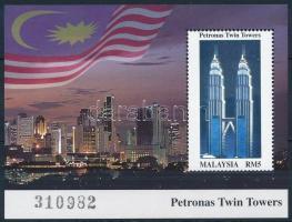 Petronas ikertornyok befejezése hologramos blokk Petronas Twin Towers hologramic block