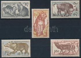 1959 Tátra nemzeti park; Állatok sor Mi 1153-1157