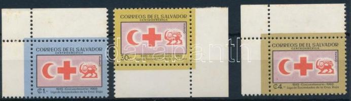 1969 Vöröskereszt sor ívsarki záróértékei Mi 975-977