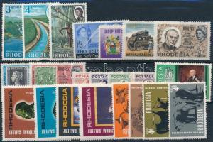 1965-1967 5 set + 3 stamp 1965-1967 5 klf sor + 3 klf önálló érték