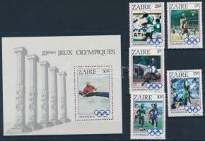 1984 Nyári olimpia sor Mi 861-865 + blokk Mi 49