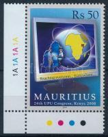 UPU Congress corner stamp UPU Kongresszus ívsarki bélyeg