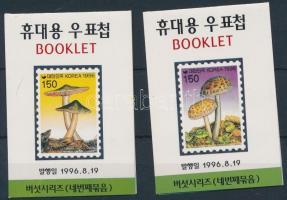 Gomba sor két értéke bélyegfüzetben Mushroom 2 stamps in stampbooklet