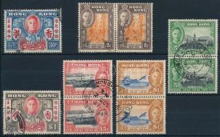1941 Sor és 4 klf bélyegpár Mi 163, 165-166, 168-170