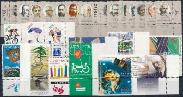 26 diff stamps with tab with sets, 26 db klf tabos bélyeg, közte teljes sorok és ívszéli értékek stecklapon