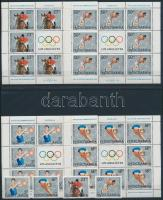 Summer Olympics, Los Angeles set + minisheet set, Nyári Olimpia, Los Angeles sor + kisívsor