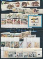 1984-1989 8 klf  + 1 blokk + 2 klf önálló érték 2 db stecklapon, 1984-1989 8 set + 1 block + 2 stamp