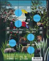 Veszélyeztetett állatok kisív Endangered animals minisheet