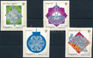 Ünnepek hologramos, öntapadós bélyeg sor Holidays hologram, self-adhesive stamps set