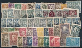 1919-1945 33 klf önálló érték + 14 klf sor 2 db stecklapon