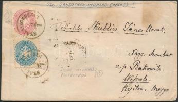 """on PS-cover, interesting piece! """"SZALA-EGERSZEG"""" - """"OEDENBURG"""" - """"TIRNAU"""" - """"RAKOVICZ"""", 1861 5kr Díjjegyes boríték felülragasztva 5kr + 10kr bélyeggel (10kr 2x felhasználva) érdekes darab! """"SZALA-EGERSZEG"""" - """"OEDENBURG"""" - """"TIRNAU"""" - """"RAKOVICZ"""""""
