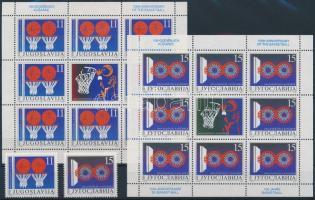 Centenary of Basketball set + mini sheet set, 100 éves a kosárlabda sor + kisívsor