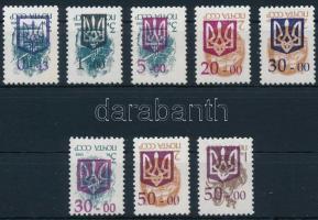 8 különféle fordított felülnyomású szovjet bélyeg 8 diff. soviet stamps with reveresed overprint