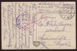 1917 Lembergi képeslap tábori postával EP 445