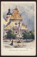 1917 Lembergi képeslap tábori postával TP 632