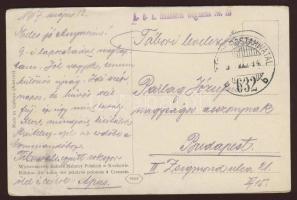 1917 Lembergi képeslap tábori postával Infantenie Regiment No. 23+TP 632b