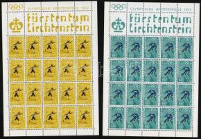 Téli olimpia kisív sor Winter Olympics mini sheet set