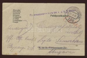 1918 Tábori lap Offiziersaspirantenkurs der k.u.k. 2. Armee + EP 256