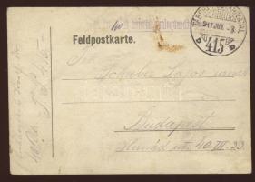 1917 Tábori lap / Field post card M. Kir. 40-ik honvéd gyalogdandár parancsnokság + TP 415b