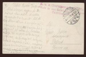 1917 Képeslap tábori kórházból / Postcard from field hospital