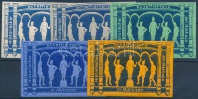 Schäfflertanz München 5 különféle levélzáró
