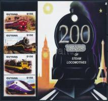 Vasút kisív Train mini sheet
