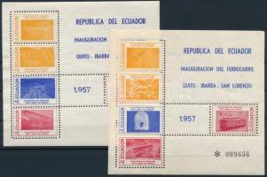 1957 Vasút Mi blokk 5-6 (sarokhiba / corner fault)