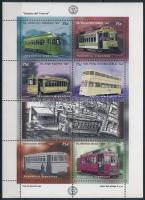 Villamosok kisív Trams minisheet