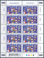 Belépés az Európai Unióba kisív Entry into the European Union minisheet