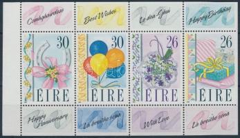 Greeting Stamp stamp-booklet sheet, Üdvözlőbélyeg bélyegfüzetlap