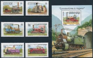Locomotives set + block Mozdonyok sor + blokk