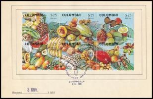 1981 Gyümölcsök Mi 1509-1514 emléklapon