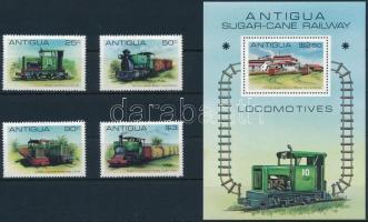 1981 Vasút sor Mi 607-610 + blokk 53