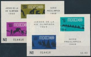 Nyári Olimpia, Mexikó 2 klf blokk Summer Olympics, Mexico 2 blocks