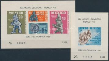 Nyári Olimpia, Mexikó blokk sor Summer Olympics, Mexico block set