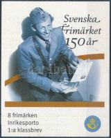150 éves a svéd bélyeg bélyegfüzet Swedish stamp stampbooklet