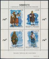 Bélyegkiállítás, népviseletek blokk Stamp Exhibition, folk costumes block