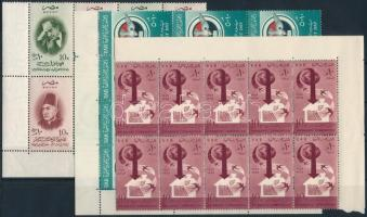 1957-1959 5 diff stamps in 4 blocks 1957-1959 5 klf bélyeg 4 klf összefüggésben