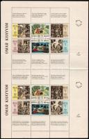 Omar Khayyam sheet with 4 mini sheets Omar Khayyam 4 kisívet tartalmazó nagy ív