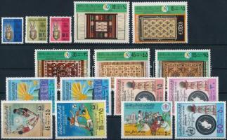 8 sets, 1 stamp and 1 block, 8 db sor, 1 bélyeg és 1 blokk 2 stecklapon