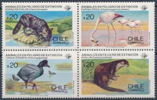 Ritka állatok négyestömb Rare animals block of 4