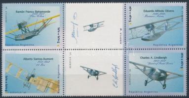Bélyegkiállítás, repülők sor hatostömbben Stamp Exhibition, planes set block of 6