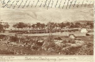 1904 Igalo, Rekrulen-Beeidigung / Recruiters oath in the K.u.K. military camp. photo