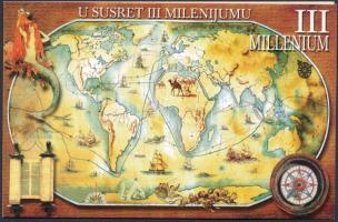 Millennium set in stamp-booklet, Ezredforduló sor bélyegfüzetben