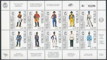 Fegyveres erők napja: Egyenruhák kisív Uniforms minisheet
