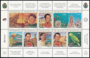 Margarita-sziget felfedezésének 500. évfordulója kisív Explore Margarita Island minisheet